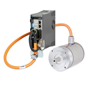 Kollmorgen AKD Servo Drive and AKMH Stainless Steel Servo Motor One Cable Package